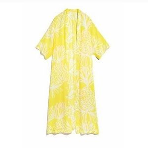 NWT Lilly Pulitzer Yellow Pineapple Kimono